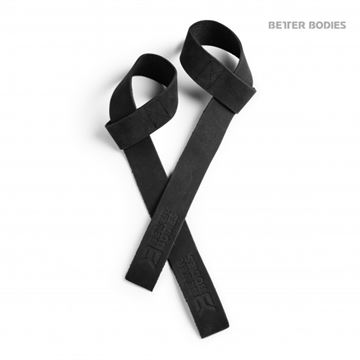 Better Bodies Leather Lifting Straps Black