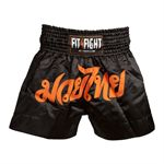 Fit4Fight Thai Shorts Black
