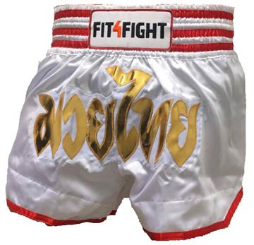 Fit4Fight Muay Thai Shorts White