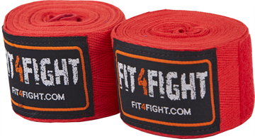 Fit4fight Hand Wrap Cotton 4,5 meter Red