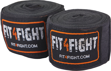 Fit4fight Hand Wrap Cotton 4,5 meter Black