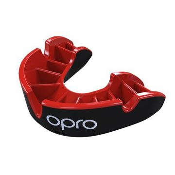 Opro Silver Generation 3 Mouth Guard White-black