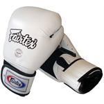 Fairtex BGV 1 Tight Fit Sparring Gloves, White
