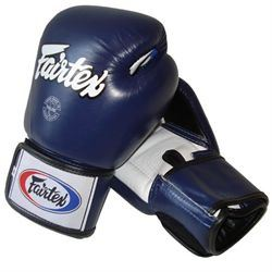 Fairtex BGV1 Tight Fit Sparring Gloves, Blue
