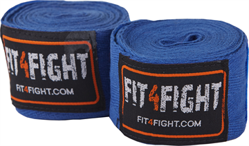 Fit4fight Hand Wrap Cotton 4,5 meter Blue