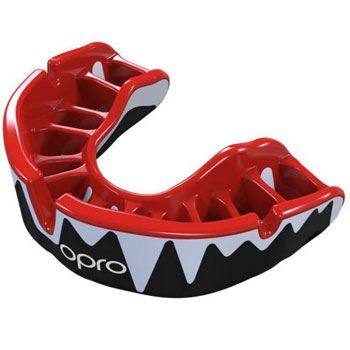 Opro Platinum Mouthguard Blue/Red